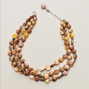 Jewelry - GORGEOUS!! Silpada Silver & Coin Pearl Necklace